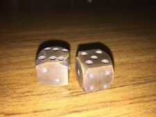 Solid Brass Dice Set Antique Style Casino & Gambling Maverick Die Solid Metal vg
