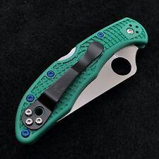Blue Titanium Screws (4) Torx Scale Screws  (>No Knife<) for Spyderco Delica 4