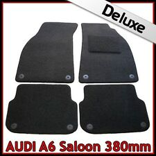 Audi A6 Saloon C6 2004-2011 380mm Tailored LUXURY 1300g Carpet Car Mats BLACK