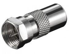 goobay sat tv verbinder adapter f stecker male an 9,5mm koax koaxial iec stecker