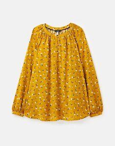 Joules  215646 Long Sleeve Raglan Pop Over - Gold Floral