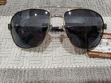 Panama Jack PJ 100 Men's POLARIZED Sunglasses Silver Aviator New