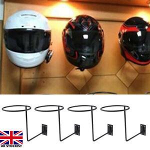 4x Motorcycle Helmet Holder Rack Wall Mounted Hook for Motorcycle Cap