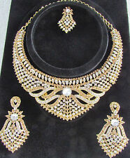 Indian Traditional Zircon 3D Necklace Sets Indian Bollywood Style Jewellery Set