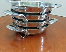 """(4) ALL-CLAD Stainless Steel 6"""" Mini Gratin NEW Open Box *QUICK SHIP*"""
