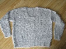 Womens Designer DKNY Grey Knitted Jumper Size L - Large Great condition
