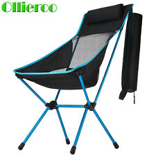 Ollieroo Folding Backpack Chair Portable Beach Camping Chair Steel Storage Pouch