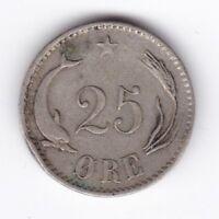 1874 Denmark Christian IX  25 Ore | Pennies2Pounds