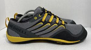 Merrell Barefoot Trail Glove Smoke/Adventure Yellow Hiking J85521 Mens Sz 10.5