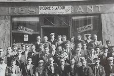 Photographie 1935 groupe d'hommes La Garenne Colombe Restaurant Cidre Silvador