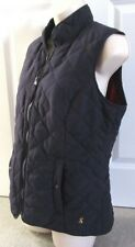 Joules womens quilted Gilet 14 navy BNWT!!! fleece lined front zipped  & pockets