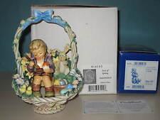 "Goebel Hummel ""Easter'S Coming"" #2027 Collectors Set & Joy Of Spring Scape Mib"