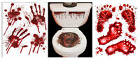 HALLOWEEN TOILET SEAT GRABBER FOOT HAND PRINT SCARY FANCY DRESS HORROR PARTY