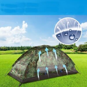 Waterproof Camping Tent 2 Persons Shelter Single Layer Tents Travel Hiking Shade
