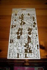 FOREVER FRIENDS ALPHABET STICKERS GOLD (2 SHEETS) 28,5XX15,5 CM  ACID FREE NEW