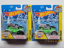 2014 MATTEL MONSTER JAM SET OF 2 GRAVE DIGGER SPECIAL HOLIDAY EDITION