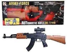 Kids Army Force AK-47 Assault Rifle Toy S.W.A.T Gun Light Sound & Vibration 82cm