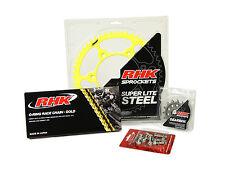 Suzuki DRZ400SM 520 O-Ring Chain Front Rear Sprocket Kit Yellow