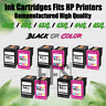 Ink Cartridge Compatible w/ HP Printer lot 60 61 62 63XL 64XL 65XL BLACK / COLOR