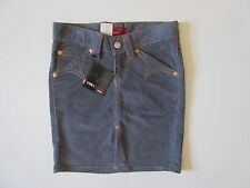 NWT Levi's Type 1 Gray Think Stitch Big Label Stretch Western Pencil Skirt S