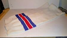 """9 Pairs Athletic Knit Ak Hockey Socks Red White And Blue 26"""""""