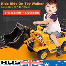 Kids Ride On Bulldozer Safe Toy Loader Digger Tractor Excavator Christmas Gift
