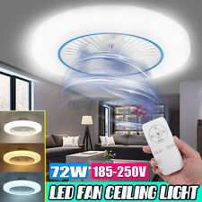 72W LED Ceiling Fan Light Modern Chandelier Living Dining Room Bedroom Remote