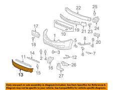 Acura HONDA OEM 09-10 TSX Front Bumper-Grille-Lower 71107TL0G00