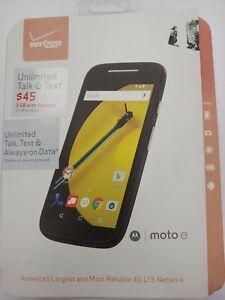 Motorola MOTO E - 8GB - Black (Verizon) Smartphone - TXT1528