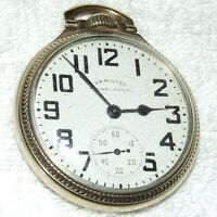 "Vintage 1952 HAMILTON ""Railway Special"" 21J Railroad Grade 992B Pocket Watch 10k"