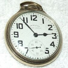 "Vintage 1952 HAMILTON ""Railway Special"" 21J Railroad Grade 992B Pocket Watch 10k"