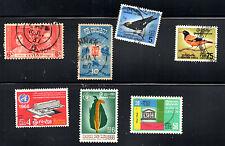 stamps CEYLON  CD302 A97 A110(2) A120 A121 A122 LOT
