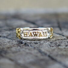Hawaiian Sterling Silver Hawaii Scrolling Toe Ring Yellow Gold Plated Tr1092