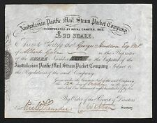 1852 Australia: Australasian Pacific Mail Steam Packet Company