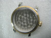 BULOVA ACCUTRON SWISS 65C107 PARTS CASE MEN'S WATCH ST STEEL & G/P 42 MM WIDTH