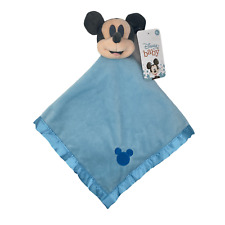 """Disney Baby Mickey Mouse BLUE Blankee 16""""x16"""""""