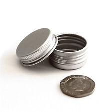 3 x 5ml Metal Cosmetic Screw Lid Pots, Jars, Tins - Lip Balm, Samples jda3