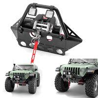 Metall Frontstoßstange mit Scheinwerfer für AXIAL SCX10 III Jeep TUBE RC Car SUS