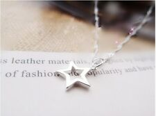 Shiny 925 Sterling Silver PL Hollow Cut Out Star Pendant Necklace Ladies Girl UK