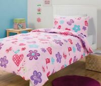 Love Birds Kids Single Bed Quilt Cover Set | 180TC | Hearts & Flowers  | Single