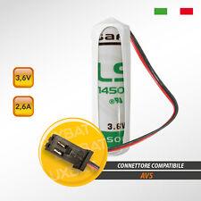 Batteria al Litio SAFT LX - LS14500 3.6V 2.6Ah compatibile AVS