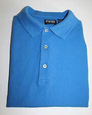 PING Mens MEDIUM Cornflower Blue Cotton Pique Polo Golf Shirt Short Sleeve