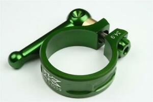 KCNC SC10 QR Seatpost Clamp Ti Axis Green 31.8mm