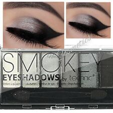 Technic Smokey Eyeshadows Palette 6 Shades Black Grey Silvers Post