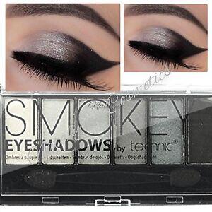 Technic Smokey Eyeshadows Palette 6 shades Black Grey Silvers SEALED + FREE POST