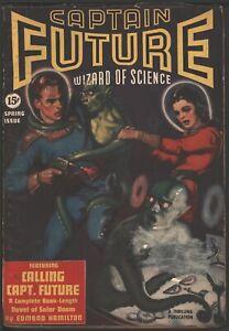 Captain Future 1940 Spring.   Pulp