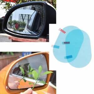 2x Car Rear View Mirror Waterproof Anti-Fog Mist Rainproof Glass Protective Film