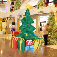 5Ft Christmas Inflatable Tree Blow-Up LED Lighted Holiday Yard Outdoor Decor