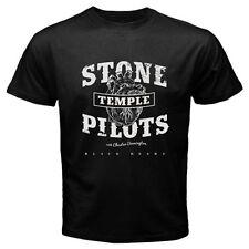 STP Stone Temple Pilots Black Heart Rock Band Mens Black T-Shirt Size S to 2XL