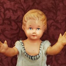 Schutz-Marke Celluloid Strung Doll 19 with Turtle Mark Molded Hair Painted Eyes